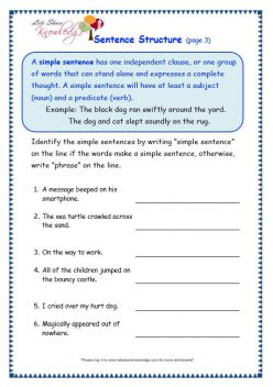 Three Sentence Structures