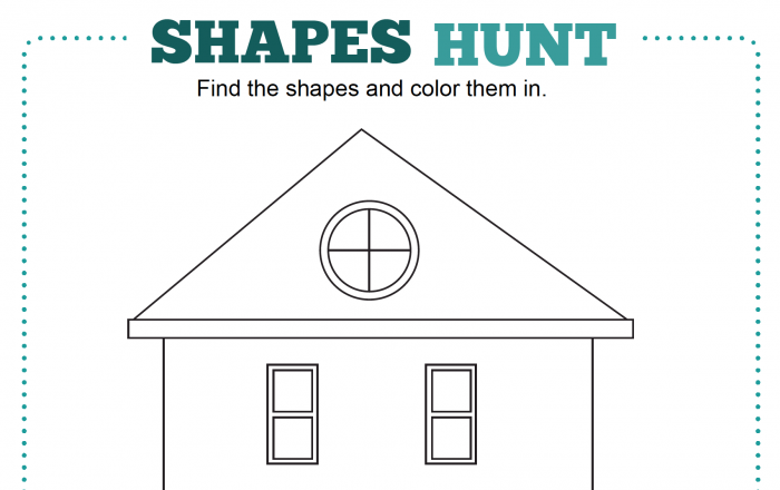 Hidden Shapes And Colors Worksheet  Creative Chinese