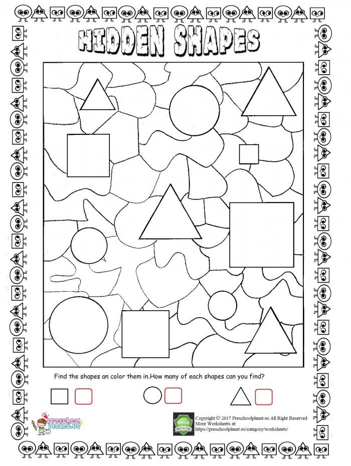 Hidden Shapes Worksheet