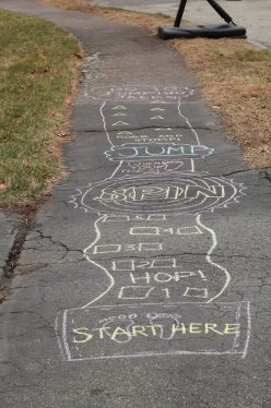 Chalk Walk Choice Board