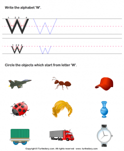 "Words That Begin With ""W"""