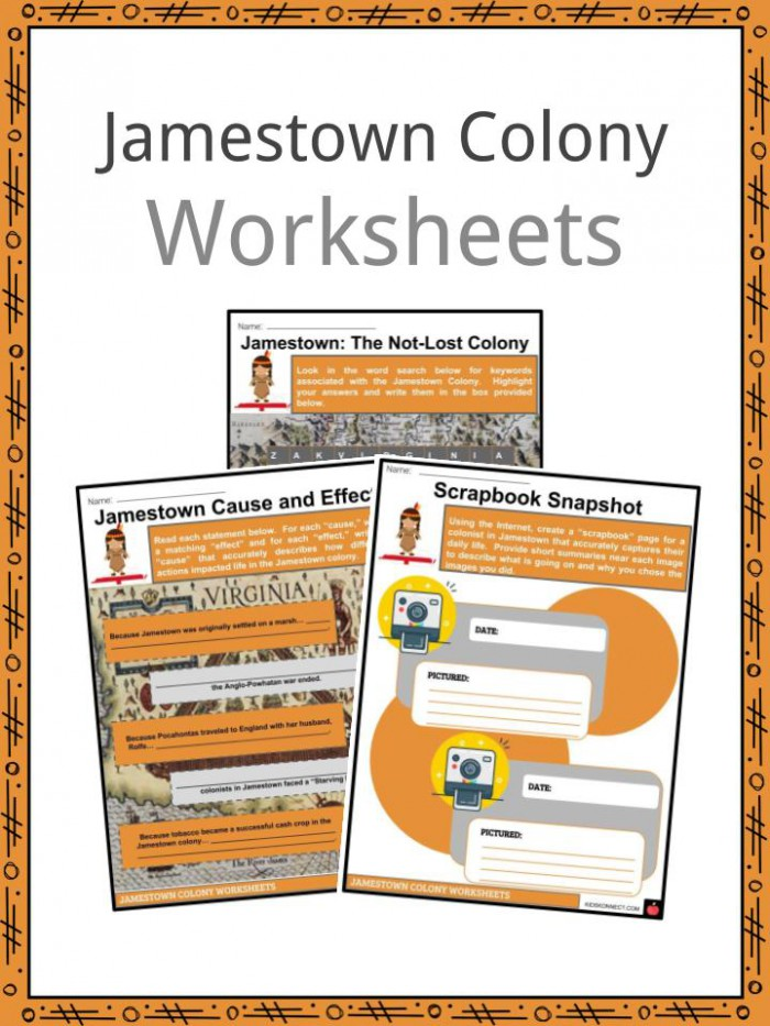 Jamestown Colony Facts  Worksheets  Colonial Success   History Kids