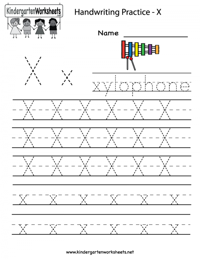 Writing The Letter X Worksheets 99worksheets