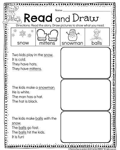 Kindergarten Math And Literacy Worksheets For December With