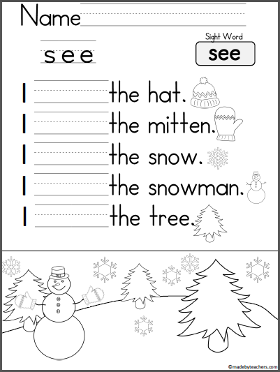 Kindergarten Writing Practice