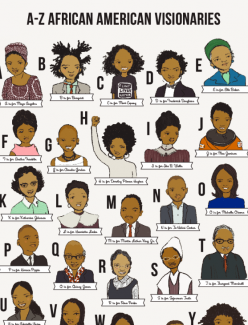 A-Z African American Visionaries Poster