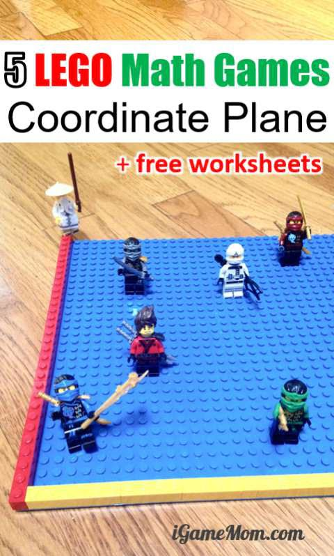 Lego Movie Math Game With Coordinate Plane Worksheets