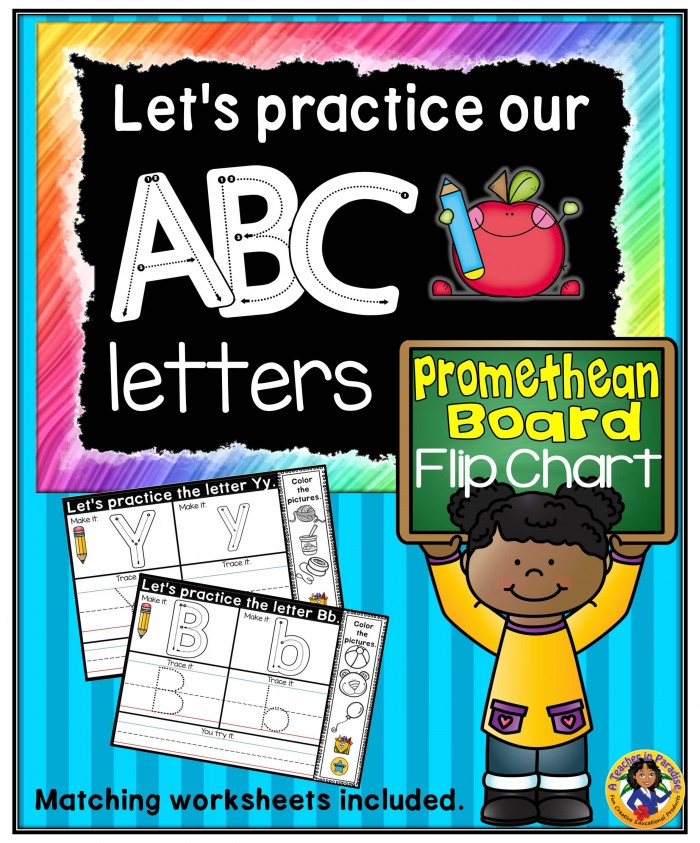 Lets Make Our Letters  Promethean Flip Chart And Printables