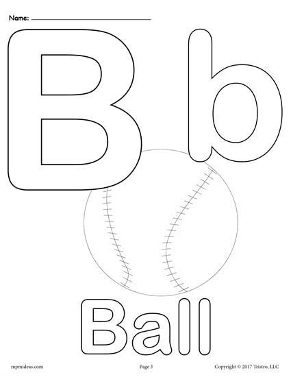 Letter B Alphabet Coloring Pages