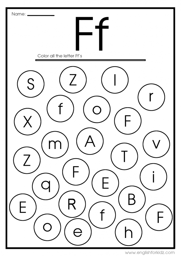 Letter F Worksheets  Flash Cards  Coloring Pages