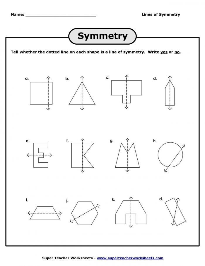Lines Of Symmetry Worksheets