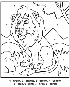 Color By Number: Lion