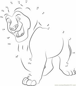 Connect The Dots: Lion