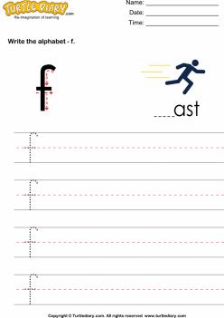 Alphabet Practice: F