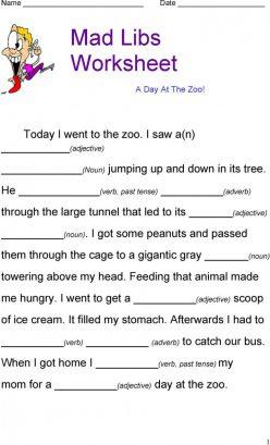 Zoo Mad Libs