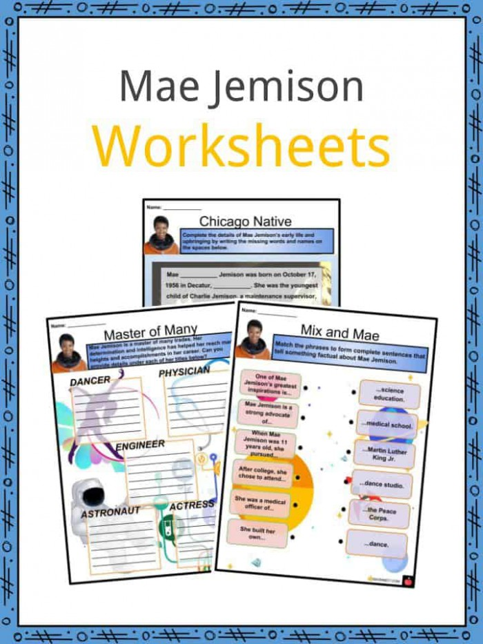 Mae Jemison Facts  Worksheets  Space  Career  Life   Legacy For Kids