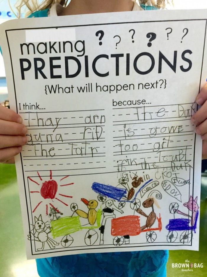 Making Predictions St Grade Read Aloud