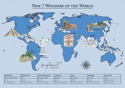 Map Of The New 7 Wonders
