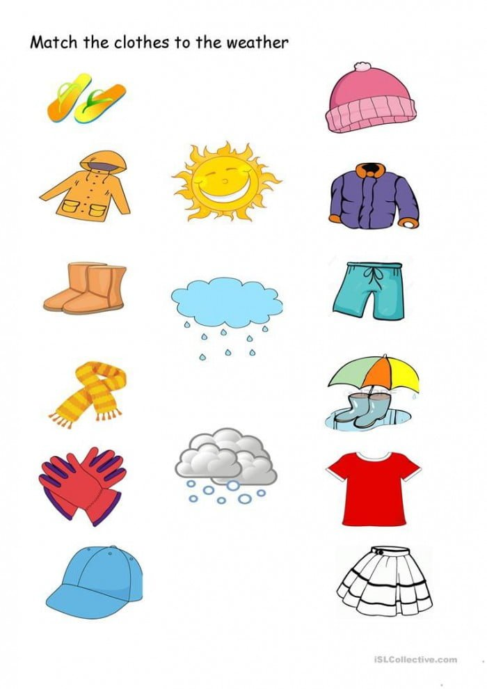 Match The Clothes To The Weather With Images