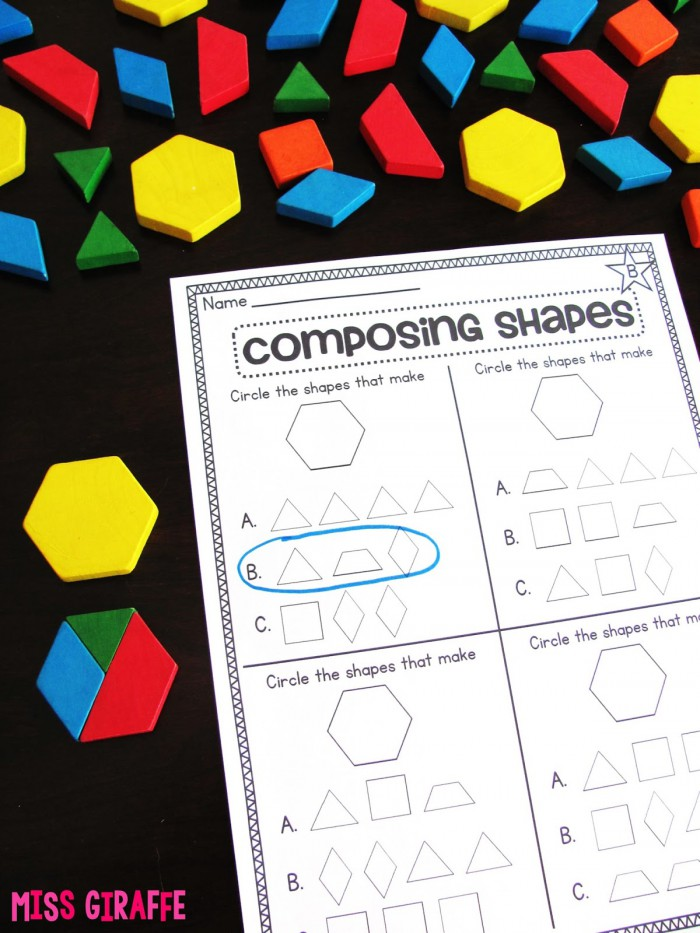 Miss Giraffes Class Composing Shapes In St Grade