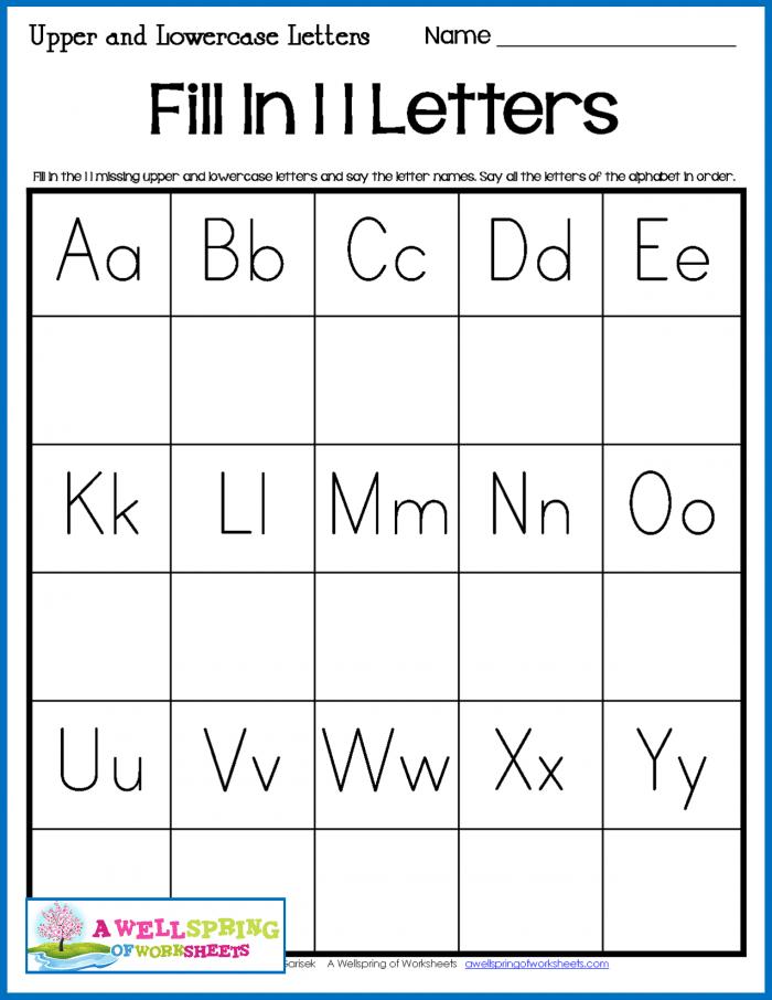 Fill In Missing Alphabet Letters Worksheets 99Worksheets