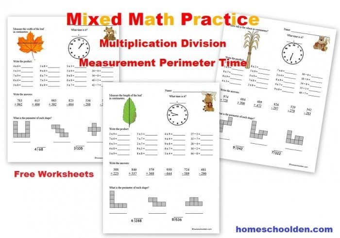 Free Mixed Math Practice Sheets