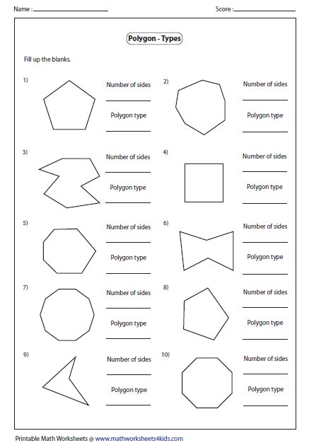 Name The Type Of Polygon With Images