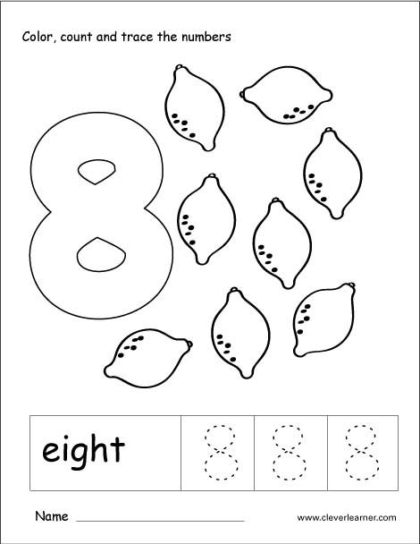 Number Eight Writing  Counting And Recognition Activities For Children