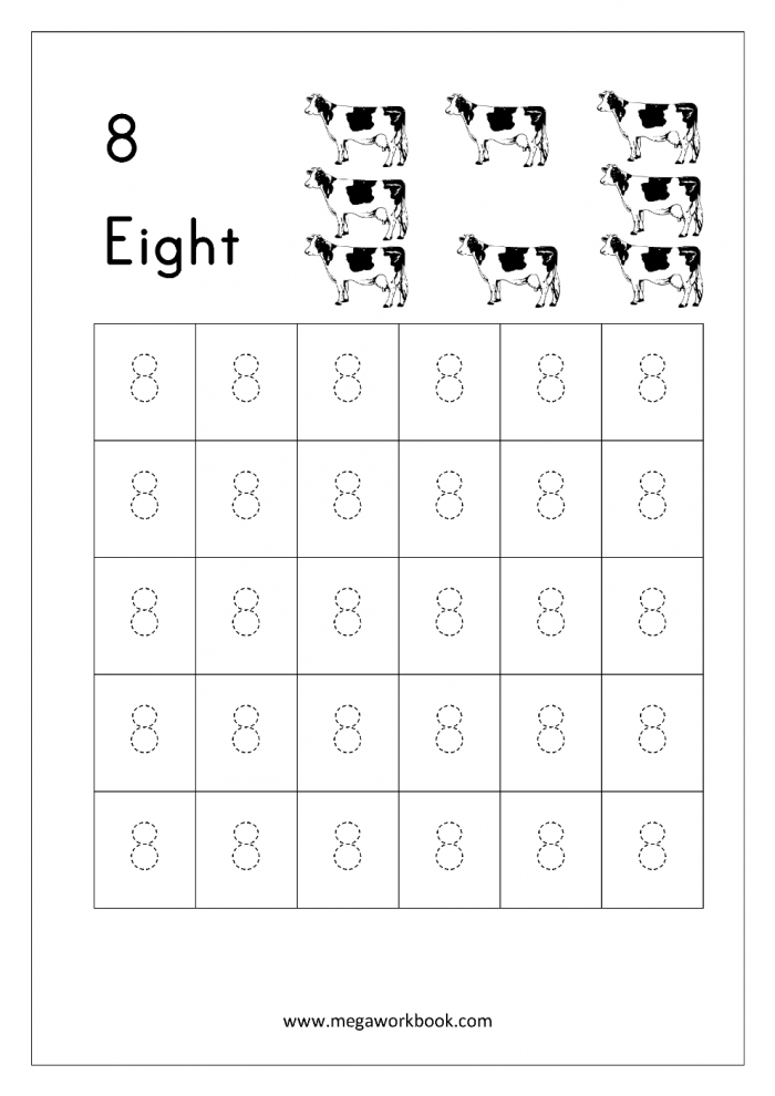 Count And Write The Number Worksheets For Kindergarten