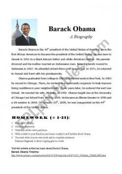 Using A Timeline: Barack Obama