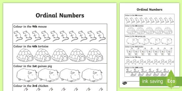 Ordinal Numbers Worksheet Teacher Made