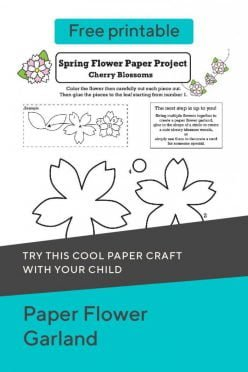 Paper Flower Garland Printable