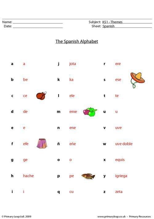 Spanish Alphabet Worksheets 99Worksheets