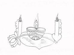 Draw A Diwali Diya
