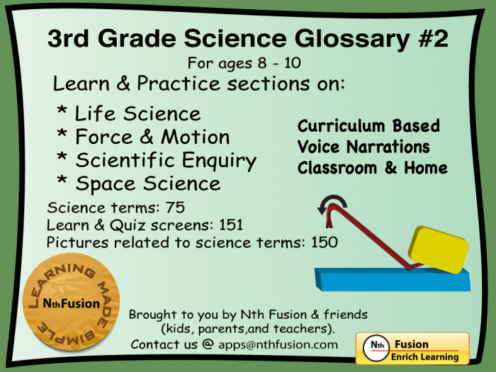 Rd Grade Science Glossary  Ipad App  Learn And Practice