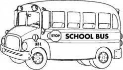 Transportation Coloring Page: School Bus