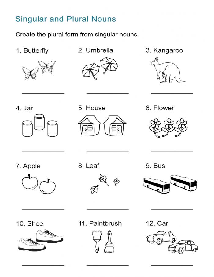 Plural Or Singular? Worksheets 99Worksheets