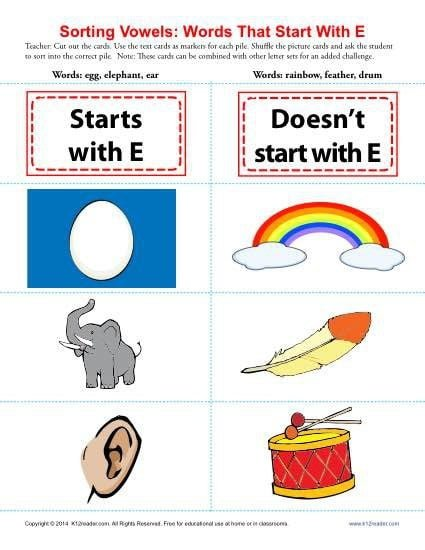 Words Starting With E