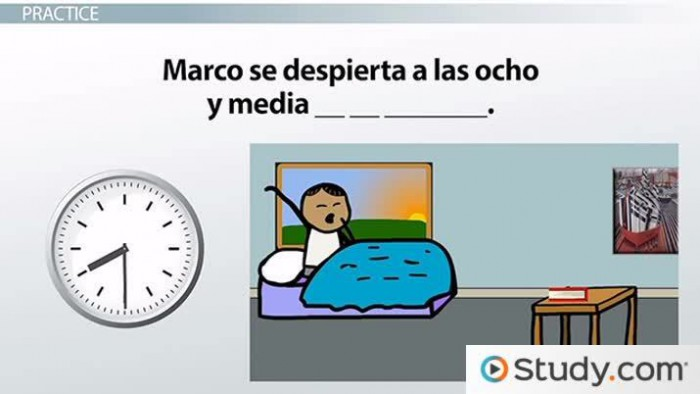 Spanish Vocabulary For Time Of Day Morning  Afternoon   Evening