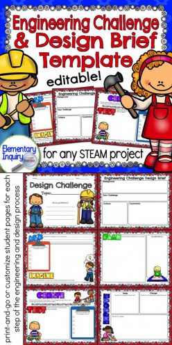 STEM Design Challenge Cards For Young Learners