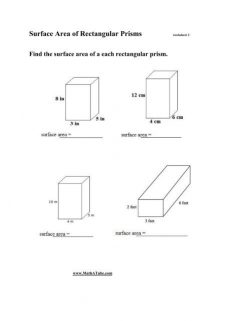 Find The Surface Area: Rectangular Prism