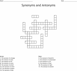 Antonym Crossword