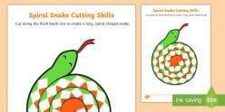 Cutting: Snake Spiral