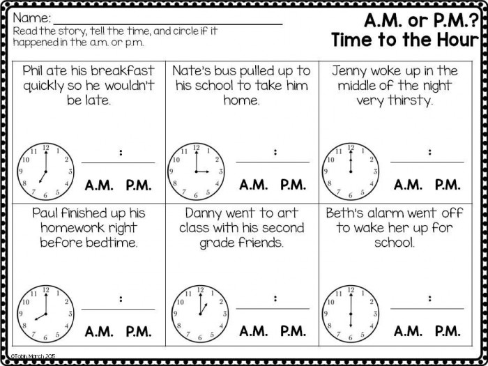 Telling Time And Determining Am Or Pm