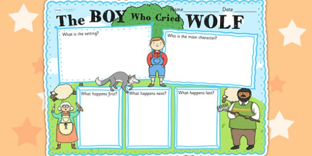 The Boy Who Cried Wolf Story Review Writing Frame