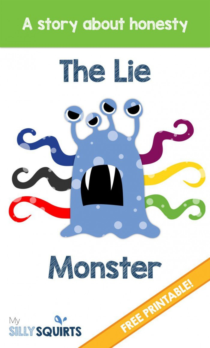 The Lie Monster A Free Printable Story About Honesty With Images