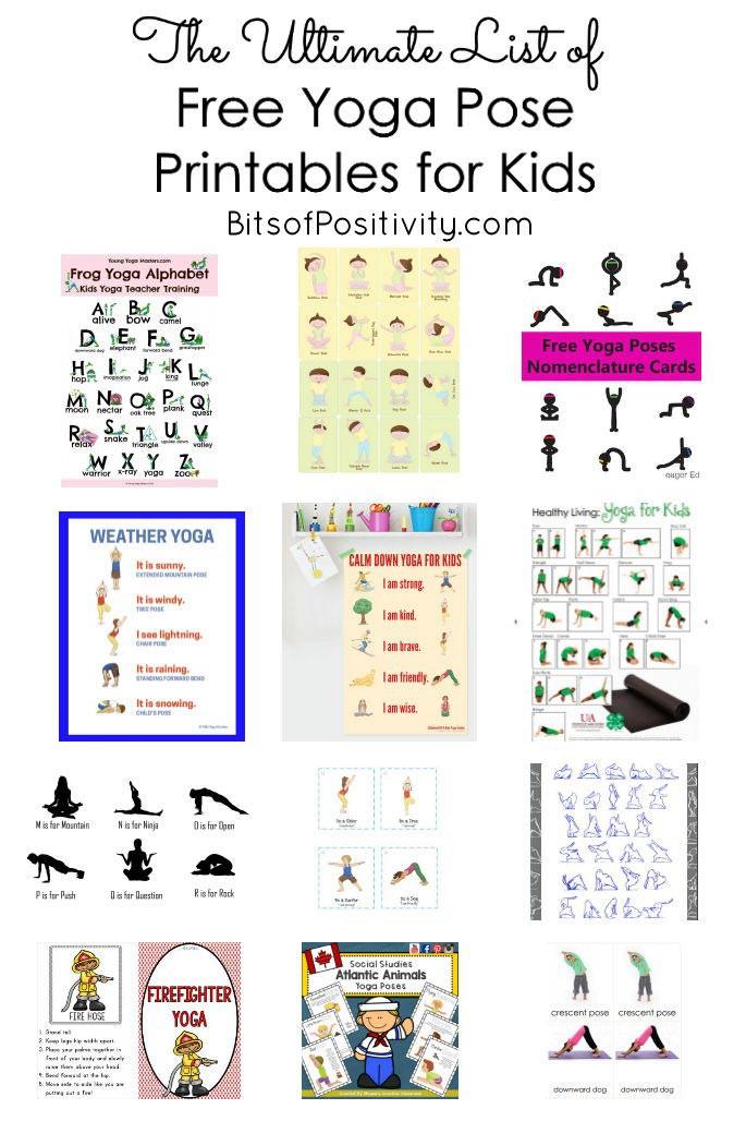 The Ultimate List Of Free Yoga Pose Printables For Kids