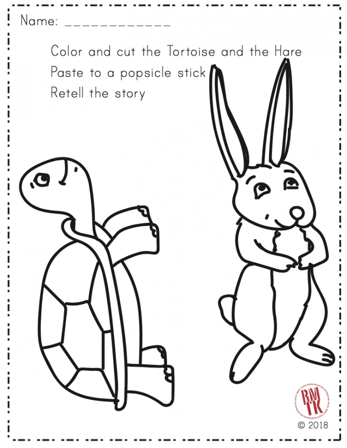 Tortoise And The Hare Puppets With Images