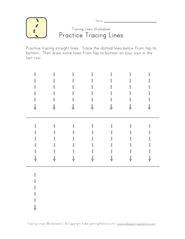 Trace Lines Down Worksheet With Images