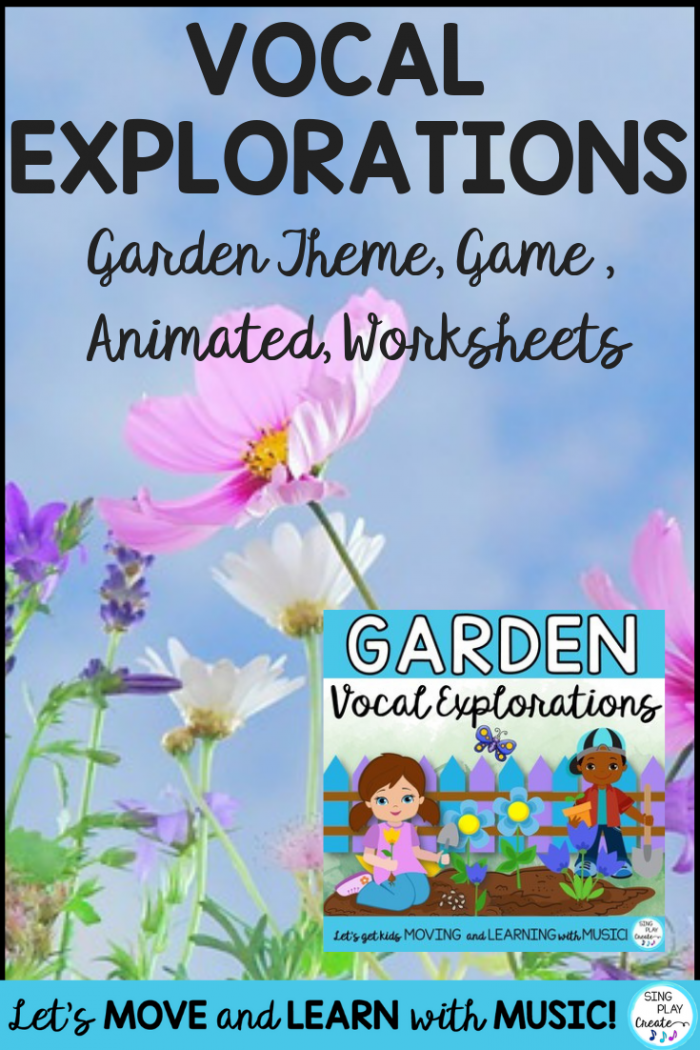 Vocal Explorations Garden Theme  Game   Animated  Worksheets